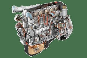 Дизельный двигатель внутри